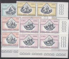 PGL BT196 - VATICANO AEREA SASSONE N°55/58 ** QUARTINE - Poste Aérienne