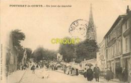 Cpa 85 Fontenay Le Comte, Un Jour De Marché, N° 4, Affranchie 1905 - Fontenay Le Comte