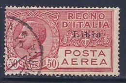 Libya, Scott # C1 Used Italy Stamp Overprinted, 1928 - Libya