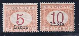 Libya, Scott # J1-2 Mint Hinged Italy Stamps Overprinted, 1915 - Libya