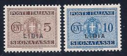 Libya, Scott # J12-3 Mint Hinged Italy Stamps Overprinted, 1934 - Libya