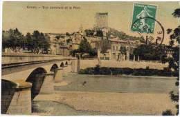 Crest, Vue Centrale Et Le Pont - Crest