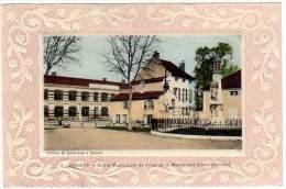 Gannat, Ecole Municipales De Filles Et Le Monument Commémoratif - France
