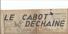 """La guerre contre les Allemands/ Journal/"""" LE CABOT DECHAINE/ Journal Hebdomadaire du 120�me RI/ 1er F�vriier 1940  OL54"""