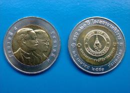 10 Baht Bimetall  120 Jahre Sirirat Krankenhaus  Thailand 2008  Nr. 52 - Thaïlande