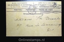 Belgisch Inlichtingsbureel Voor Krijgsgevangenen En Geinterneerden Brussel 1918, Postcard