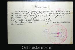 Belgisch Inlichtingsbureel Voor Krijgsgevangenen En Geinterneerden Brussel 1916, Postcard