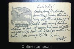 Austria: Feldpostkorrespondenzkart E, Eisernes Korps, 1917 To Stuttgart