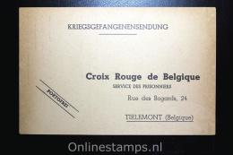 Belgium  La Croix Rouge Belgique, POW Post To Tirlemont  Dec 1940 From Fulda Germany - Guerre 40-45