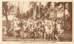NOUVELLE CALEDONIE - MELANESIAN TYPE NATIVES EAST COAST NEW CALEDONIA - Nouvelle Calédonie