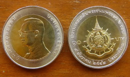 10 Baht Bimetall  72. Geburtstag König Bhumibol   Thailand 1999  Nr. 9 - Thaïlande