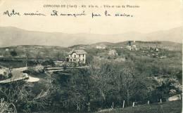 Concoules  Alt. 630 M  Villa Et Vue De Planzoles  Cpa - Frankreich
