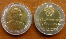 10 Baht Bimetall  Rama V. Kehrt Vor 100 Jahren Aus Europa Zurück  Thailand 1997  Nr. 4 - Thaïlande