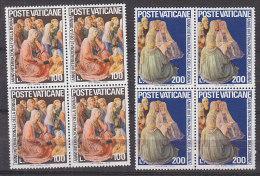 PGL BT161 - VATICANO SASSONE N°591/92 **  QUARTINE - Vatican