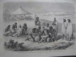 Ethiopia - Abyssinia   - Guillaume Lejean - Theodore II -  - Wood Engraving Ca 1860's  AV754.3 - Estampas & Grabados
