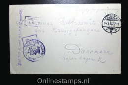 Germany:  Russian Prisoner Of War Cover,censored  Güttersloh Via Kopenhagen Denmark To Moscau