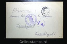 Germany:  Russian Prisoner Of War Cover,censored  Königstein Via Kopenhagen Denmark To Moscau