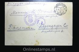Germany:  Russian Prisoner Of War Cover,censored  Königstein Via Kopenhagen Denmark To Moscau - Briefe U. Dokumente