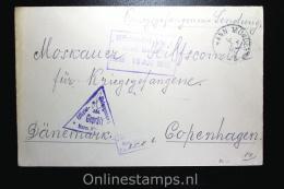Germany:  Russian Prisoner Of War Cover,censored  Hannover Via Kopenhagen Denmark To Moscau - Briefe U. Dokumente
