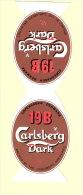 Carlsberg Dark 19B- Bière-Beer -Bier- Brasserie- Publicité De Table- Chevalet -Dimensions- 20x6,5cm-Top Quality-Inédit - Autres Collections