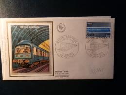 38/716   FDC  FRANCE - Trains