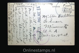 Maroc: Picture Postcard 1943, To USA Mil. Censered, Casablanca Nouvelle Ville Arabe. - Marokko (1891-1956)