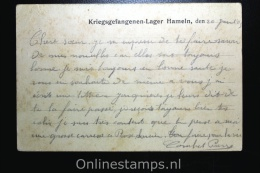 Germany, Kriegsgefangegen-Lager Hameln 1915, To Comps France,