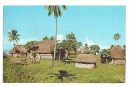Cp, Fidji, Fijian Village, Voyagée 1967 - Figi