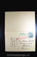 Germany Postcard P4  Gen. Gouv. Waschau Antwortkarte Mit Antwort Warschau To Apolda Thüringen