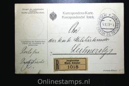 Germany Registered Postcard Portfrei From Mladá Boleslav / Jungbunzlau (Tsjech.) To Litoměřice/Leitmeritz 1917