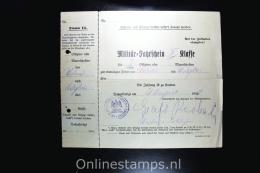 Germany 1916 , Militär-fahrschein 2 Klasse - Briefe U. Dokumente