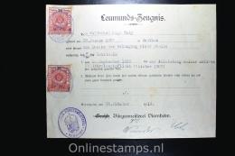 Germany  1919 Leumunds Zeugnis, Viernheim With Tax Stamps Of Hessen!
