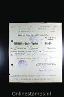 Germany  1917 Militar-fahrschein 2e Klasse - Briefe U. Dokumente