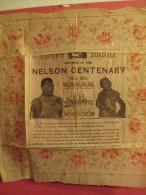 Mouchoir en papier/ Entente Cordiale/ Souvenir of the NELSON Centenary/ 1805-1905/Anglais/ Napol�on/Burgess/1905    NAP8