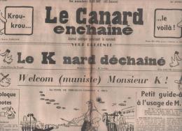LE CANARD ENCHAINE 23 03 1960 - DE GAULLE - KHROUTHCHEV - TUNISIE - FRANCOIS MAURIAC - ROSALIE DUBOIS - CORSE - 1950 - Today