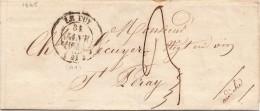 1845 , LETTRE, Hte LOIRE, LE PUY, Taxe Plume 3 / 4131 - Poststempel (Briefe)