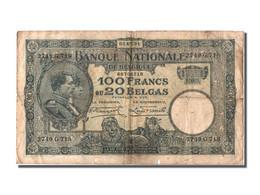 Belgique, 100 Francs / 20 Belgas Type Albert 1er Et Elizabeth - [ 2] 1831-... : Regno Del Belgio