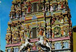 AK MALAYSIA  Kuala Lumpur  SRI MAHA MARIAMMAN TEMPLE OLD POSTCARD 1977 - Malaysia