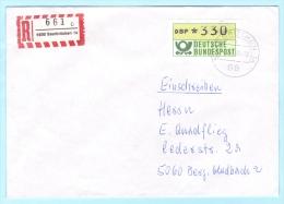 BUND BRD FRG GERMANY - R- Brief Einschreiben Registered Cover Lettre - ATM 1 - 330 --- 6600 Saarbrücken 14  (8859) - BRD