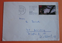 Brief Marke BRD Deutschland 1974 Friedrich, Caspar David - BRD