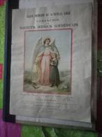 Confrérie Des Saints Anges Gardiens. Grande Chromolithographie Du 19e Siècle (St-Nicolas, Liège) - Images Religieuses