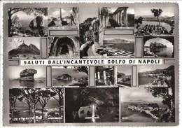 163/600 - SALUTI DALL'INCANTEVOLE GOLFO DI NAPOLI . Cartolina Nuova - Napoli
