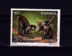 V] Timbre Stamp ** Rwanda Singe Ape Primate A. Buzin Cercopithèque Ascagne - 1980-89: Neufs