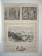 GRAVURE 1864. GRANDES USINES. FABRICATION DU ZINC. ANCIEN GITE DE MORESNET, A CIEL OUVERT. FOURS DANS LESQUELS.......... - Prints & Engravings