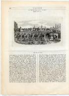 Rivista Del 1853 Splendida Incisione Di CENTO Ferrara - Ante 1900