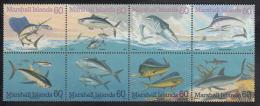 Marshall Islands MNH Scott #595 Block Of 8 Different 60c Pacific Game Fish - Marshall