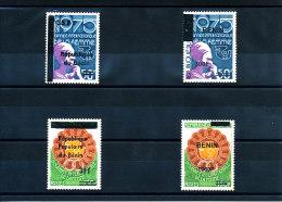 Bénin 1988 / 2009   (Année Internationale De La Femme  -  4 Valeurs - Complet) Luxes ** Signés - Ensemble  TRES RARE - Non Classificati