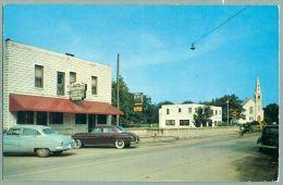 Caseville Michigan Riverside Hotel & Street Scene Ca. 1950s (nn-8) - United States