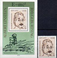 Physiker Albert Einstein 1978 DDR 2402+ Block 54 ** 4€ Nobel-Preis Porträt Denkmal Turm Bloque M/s Bloc Sheet Bf Germany - Nuevos
