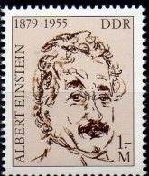 Einstein 1978 DDR 2402 Aus Block 54 ** 2€ Nobelpreis Porträt Physiker Denkmal Turm Bloque Hoja M/s Bloc Sheet Bf Germany - Physics